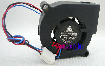 Delta 5020 0.28A BFB0512VHD 5CM 12V turbo fan 3Pin #M2091 QL 2