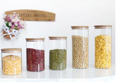 Vorratsglas aus Glas Vorratsgläser Vorratsdose Glasbehälter mit Bambus Deckel 5