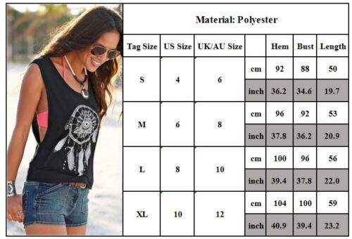 c6a2124bf050 Sexy Womens Summer Vest Shirts Sleeveless Blouse Casual Loose Tank Tops T- Shirt 11 11 of 11 See More