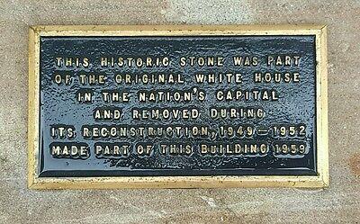 ANTIQUE ARCHITECTURAL USA WHITE HOUSE 1790s AQUIA CREEK VA SANDSTONE ARTIFACT 2
