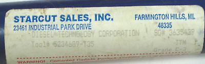 """.1817/"""" Carbide tip Gun Drill Bit Fed coolant Feeding 8.5/"""" Long Starcut USA 3//16"""