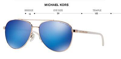 92cb94910 ... New Michael Kors Sunglasses Mk 5007 104525 Hvar Women Men Fashion Blue  Mirrored 10