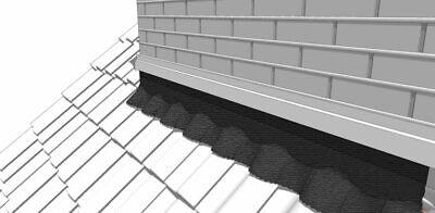 Wandanschlussband Dachanschlussband 3D Kaminband Dachabdeckung Dach Graphit
