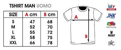 T-Shirt con Stampa Security su Fronte e Retro Maglietta 100/% Cotone Maglia Sicurezza