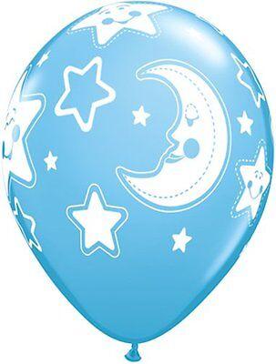 7 Pc Baby Boy Sleeping Moon Balloon Bouquet Party