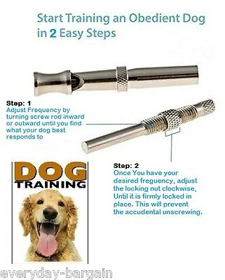 High frequency Dog Whistle Adjustable Sound Key Chain Puppy Training Collie UK 2