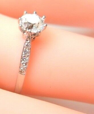 Antique Art Deco Vintage Diamond Engagement Ring Platinum EGL USA Ring Size 6.25 6