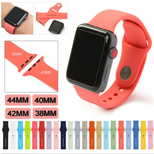 Silicone Band Strap For Apple Watch 1/2/3/4 iWatch Sports Series 38/42/40/44mm 2