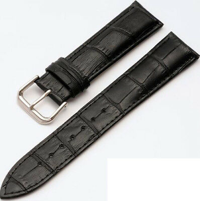 Mens Genuine Leather Watch Strap Band  Black Brown 14mm 16mm 18mm 20mm 22mm 24mm 12