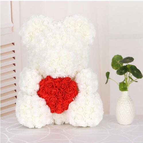 25/40cm Mother's Day Rose Bear Foam Flower Lovely Teddy Valentine Birthday Gift 10