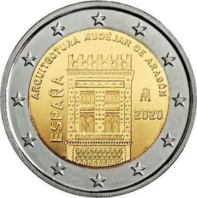 España 2 Euros 2020 - Arqt. Mudejar De Aragon - Disponible Para Envío Inmediato 3
