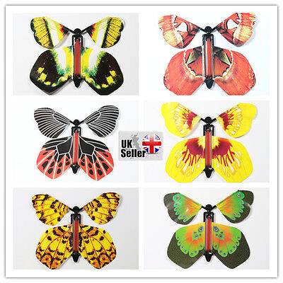 10 Pcs Magic Flying Butterfly,Fluttering Butterfly, Birthday, Wedding card gift