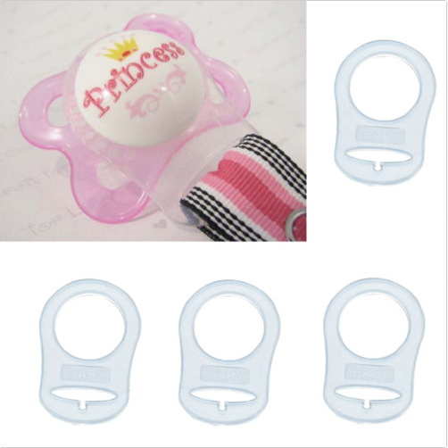 5Pcs Silicone Soft Button Baby Dummy Pacifier Holder Clip Adapter For MAM Rings 6