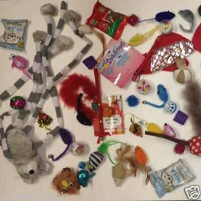 New Bulk Buy Cat Kitten Toys Rod Fur Mice Bells Balls  Catnip 10  items BARGAIN 2