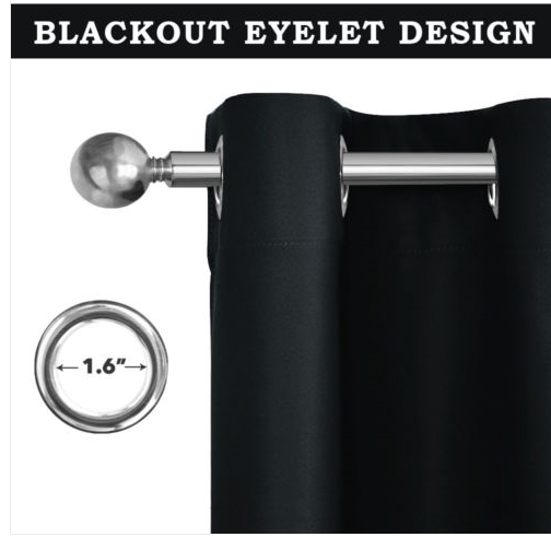 Thermal Blackout Curtains Ready Made Eyelet Curtains - Dimout Energy Saving 3