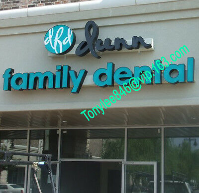 outdoor sign,channel letter with waterproof led.customs size accept.12 inches 5