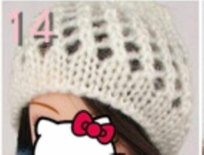Doll Accessories Warm Winter Headwear Hairwear Woven Knitting Hat For 1/6 Doll 2