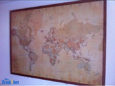 Large world map poster vintage wall picture retro art giant school 3 of 12 large world map poster vintage wall picture retro art giant school globe banner gumiabroncs Choice Image