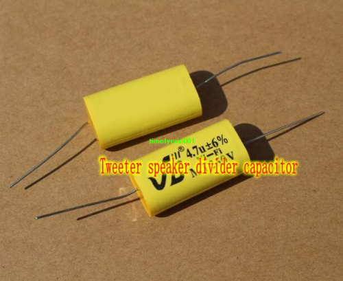 100V 2.2uF 4.7uF Audio Crossover Capacitor Tweeter Divider Promise capacitance
