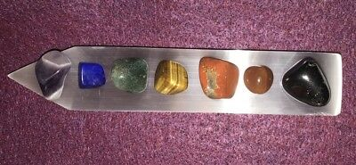 GODDESS BLESSED Chakra Gemstone Set Polished Selenite Rainbow  Crystal Healing 12