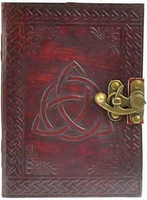 Triquetra Pattern Leather Bound Book of Shadows, Journal, Diary! 2