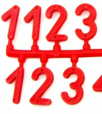 Beekeeping Red Plastic Hive Marker Number Signs: Select Quantity
