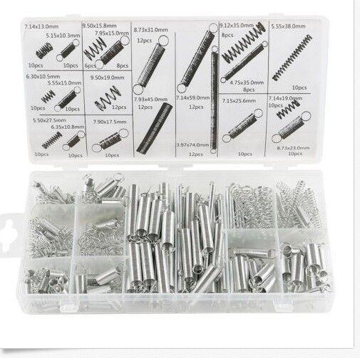 Druckfeder und  Zugfeder Sortiment Spiralfedern 200 teiliges Set Satz
