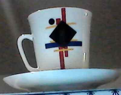 Lomonosov Porzellan Tee- mit Untertasse mit Motiven von Ilya Chashnik 5