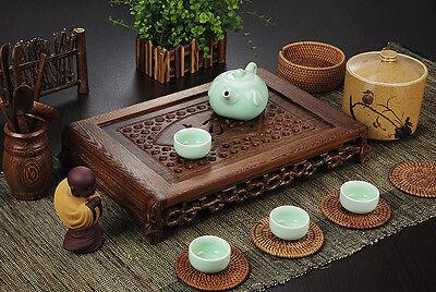 Tea tray wenge wood tea table Rosewood tea table solid wood water holder layers 3