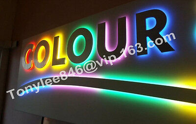 customized lighting sign letters business logos signage channel letters,12inches 3