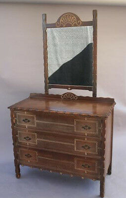 1930s Dresser W Mirror Drawers Spanish Revival Rancho Monterey Antique 3748