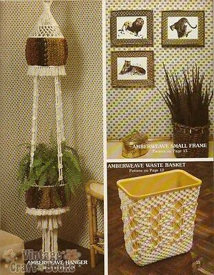 ACCENTS MACRAME VINTAGE Home Decor with Weaving Pattern Book Booklet ...