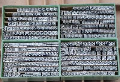 Bleischrift 16p - 6 mm Bleisatz Buchdruck Handsatz Lettern Alphabet Letter Druck 2