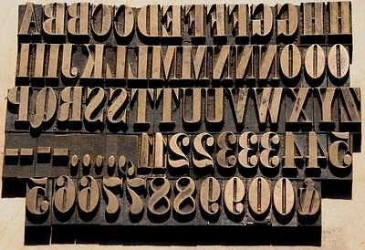 Prägeschrift 17 mm Messingschrift Buchbinder Messing Buchbinden Vergoldepresse 2