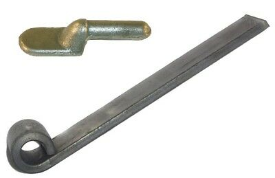 """Rolled Eye Hinge Short Self Colour 150mm Trailer Gudgeon Hinge Pin 1/2"""" Inch New 2"""