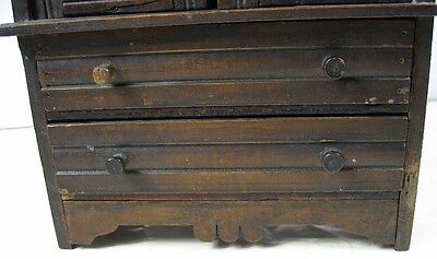 Antique 1860's Doll or Sample Empire Style Chest Nice Style 3