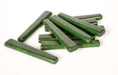 "VINTAGE LOT 10 CATALIN GREEN 3-3/8"" (87mm) Flatware Handles by Bakelite 2"