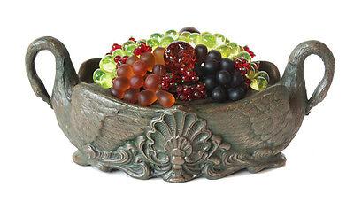 Antique 1900s Czechoslovakia Beaded Fruit Lamp in Figural Urn Czech 2