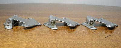 Vintage Art Deco / Nouveau Cast Metal Hinges. Set of 3 Unusual Design 9