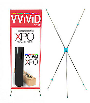 "Adjustable Telescopic X Banner 31"" wide 71"" tall Display Stand"
