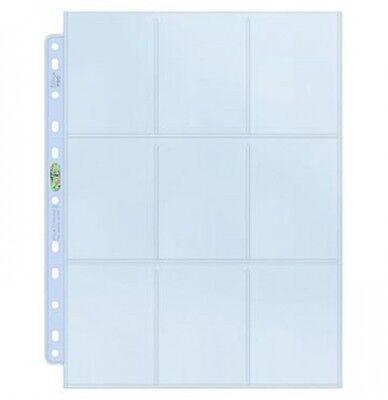 Ultra Pro Silver Series - 100 feuilles de classeur A4 pour cartes, 9 cases/page