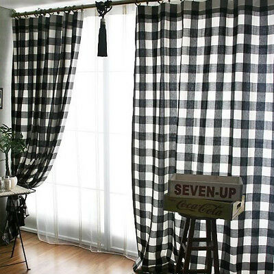 4 Of 11 Plaid Buffalo Check Curtains Black And White Curtain Panels Country Decor