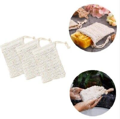 Eco Friendly Natural Sisal Wash Soap Bag Exfoliate Reusable Plastic-Free Shower 9