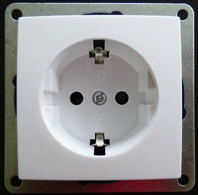 STECKDOSE GLAS RAHMEN Abelka Nuovo weiss 2-fach 16 Ampere Elektro ...