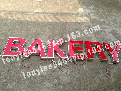 Outdoor LED sign with backlight, made by stainless steel and waterproof LED 3