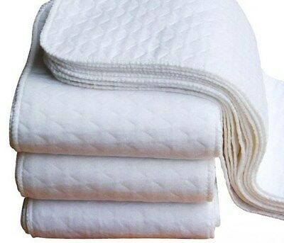 New 5pcs+ 5 INSERTS Adjustable Reusable Lot Baby Washable Cloth Diaper Nappies 2