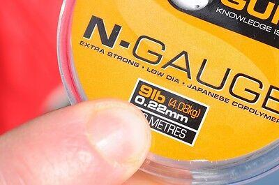 Pole Rig Line 100m Clear Mono Guru N-Gauge Hooklength
