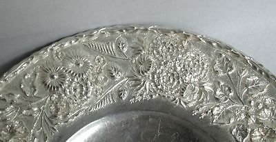 S Kirk & Son Sterling Silver Repousse' 3D High Relief Low Footed Cake Dish #193 3