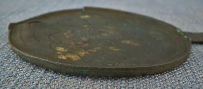 Rare Ancient Etruscan Bronze Child Mirror 4th –2nd Century B.C. Pre Roman Italy 6