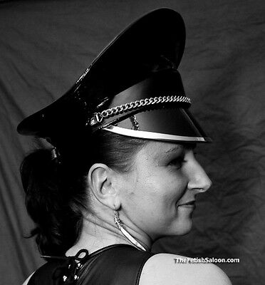 ... Famous PVC Dominatrix Hat for Spectacular Striking Look Military Cap  Fetish M-L 2 4cc021b2db3